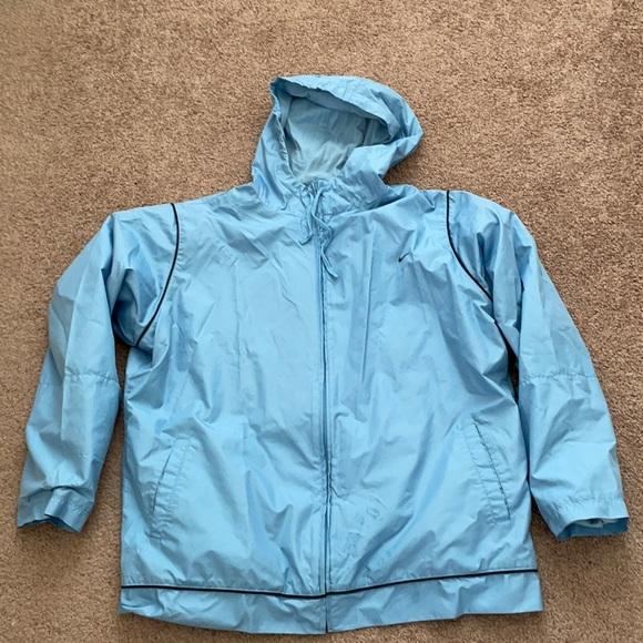 Nike Blue Zipper and Hoodie Workout Jacket
